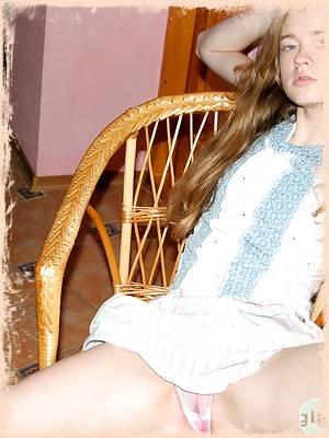 Classic beauty Emanuelle in sheer panties