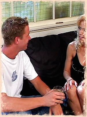 Young grandma seduces a young guy and enjoys a good fuck