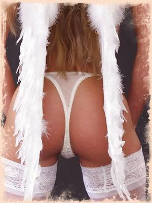 Jessica naughty stocking-clad angel