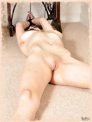 Sapphire blue stripped naked and bound at Tied Virgins