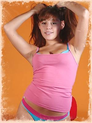Mariah wears tight pink and blue panties